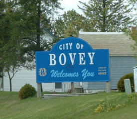Bovey Welcome Sign, Bovey, MN