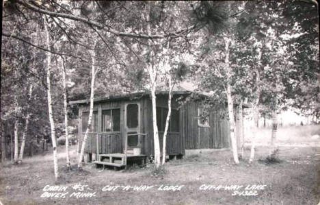 Cut-a-way Lodge, Bovey Minnesota, 1953