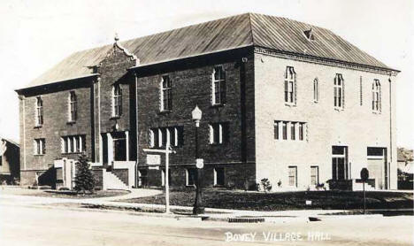 Village Hall, Bovey Minnesota, 1941