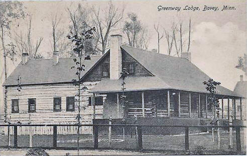 Greenway Lodge, Bovey Minnesota, 1913