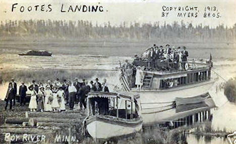 Footes Landing, Boy River Minnesota, 1913