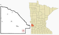 Location of Boyd Minnesota