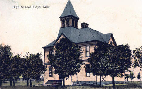 High School, Boyd Minnesota, 1908