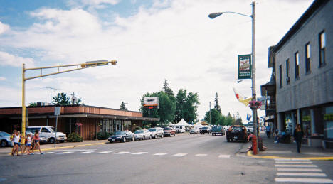 Downtown Braham on Pie Day, 2005