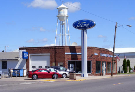 Braham Motors with Water Tower in background, 2007