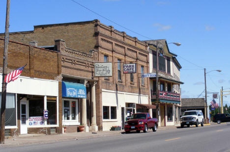 Street view, downtown Braham Minnesota, 2007