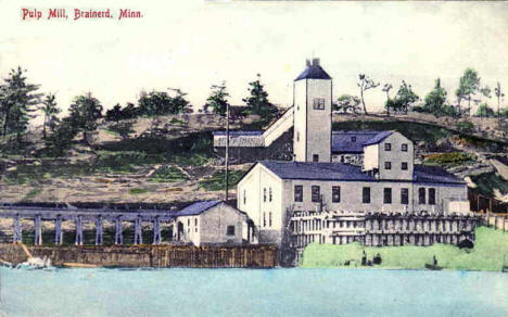 Pulp Mill, Brainerd Minnesota, 1910
