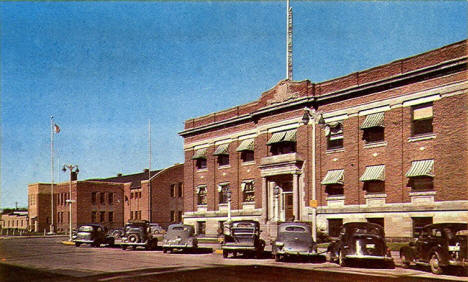 City Hall and Armory, Brainerd Minnesota, 1950's