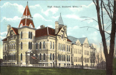 High School, Brainerd Minnesota, 1920's