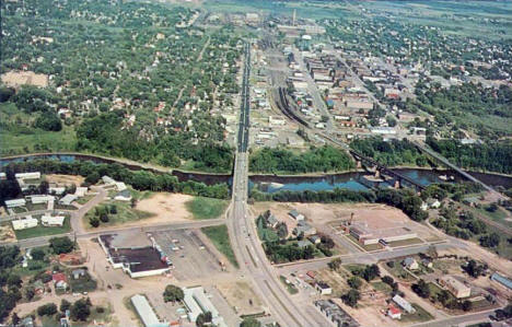 Aerial view, Brainerd Minnesota, 1960's