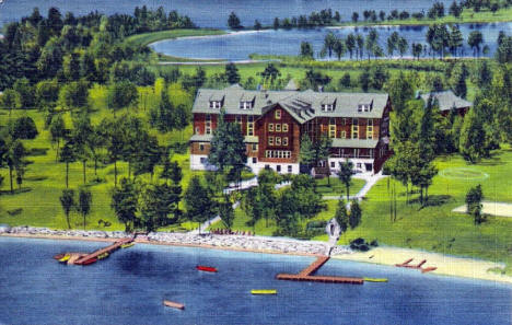Roberts Pine Beach Resort, Brainerd Minnesota, 1953
