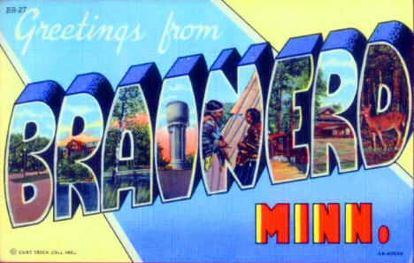 Greetings from Brainerd Minnesota, 1946