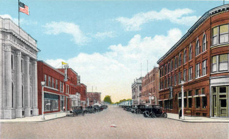 Laurel Street South, Brainerd Minnesota, 1920's