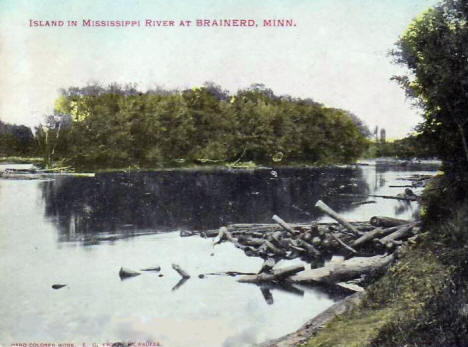 Island in the Mississippi River near Brainerd Minnesota, 1907