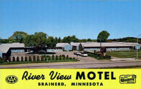 River View Motel, Brainerd Minnesota, 1960's