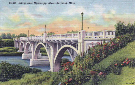 Mississippi River Bridge, Brainerd Minnesota, 1938