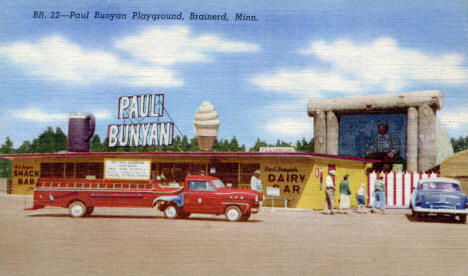 Paul Bunyan Playground, Brainerd Minnesota, 1950's