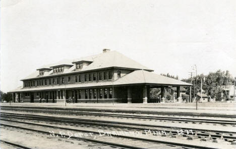 Northern Pacific Depot, Brainerd Minnesota, 1921
