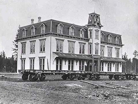 Headquarters of Northern Pacific Railroad at Brainerd Minnesota, 1872