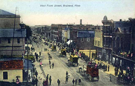 West Front Street, Brainerd Minnesota, 1905