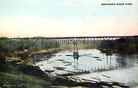 Mississippi River, Brainerd Minnesota, 1910