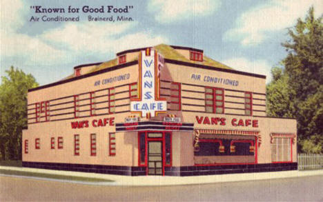 Van's Cafe, Brainerd Minnesota, 1947
