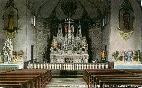 Interior of St. Francis Catholic Church, Brainerd Minnesota, 1925
