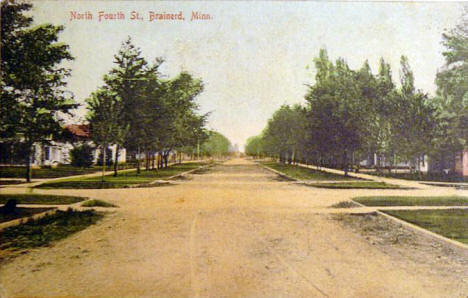 North Fourth Street, Brainerd Minnesota, 1908