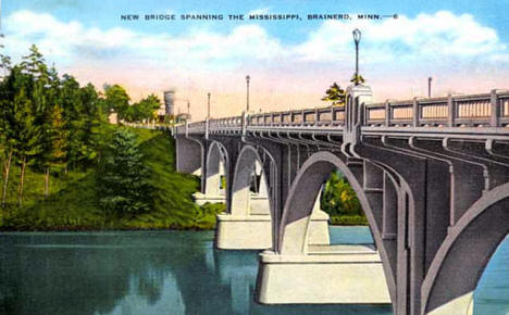 New Mississippi River Bridge, Brainerd Minnesota, 1937