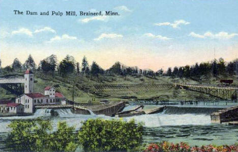 Dam and pulp mill, Brainerd Minnesota, 1910