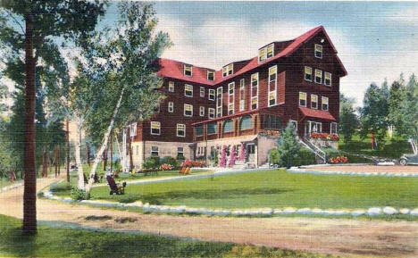 Robert's Pine Beach Hotel on Gull Lake, Brainerd Minnesota, 1940