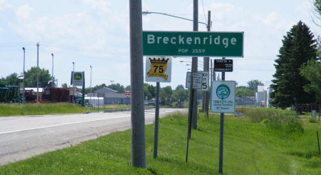 Entering Breckenridge  from the south on US Highway 75, 2008