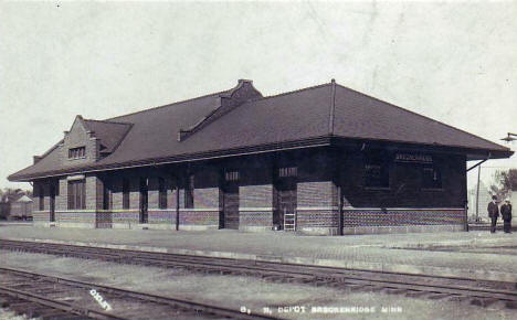 Railroad Depot, Breckenridge Minnesota, 1910's