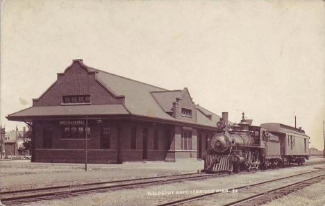 Great Northern Depot, Breckenridge Minnesota, 1910