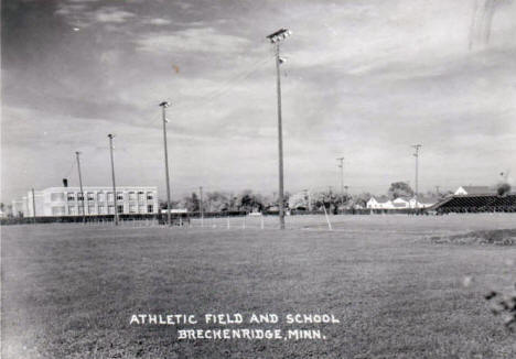 Athletic Field and School, Breckenridge Minnesota, 1962