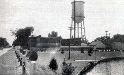 Utility Plant and Water Tower, Breckenridge Minnesota, 1940's