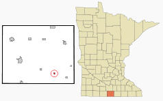 Location of Bricelyn Minnesota
