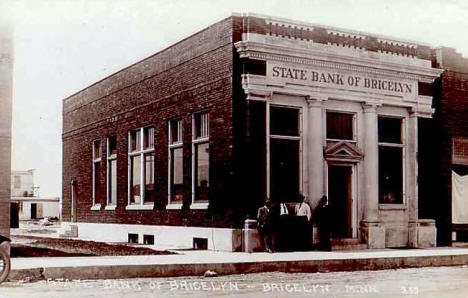 State Bank of Bricelyn Minnesota, 1910's?