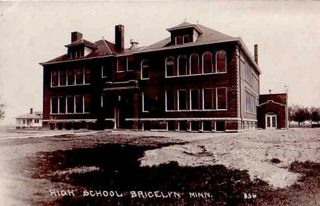 High School, Bricelyn Minnesota, 1910's?