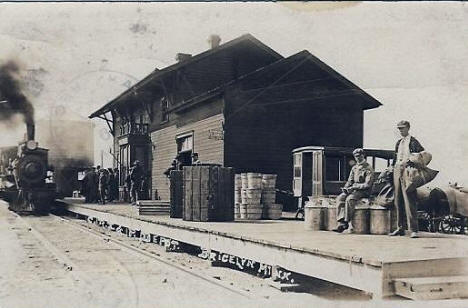 Depot, Bricelyn Minnesota, 1912