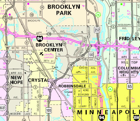 map of brooklyn center mn Guide To Brooklyn Center Minnesota map of brooklyn center mn