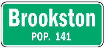 Brookston Minnesota population sign