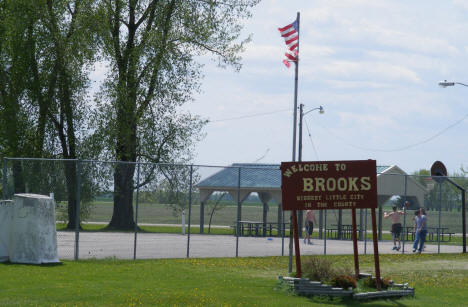 Park and Welcome Sign, Brooks Minnesota, 2008