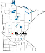 Location of Brooten Minnesota
