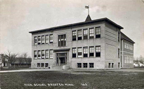 High School, Brooten Minnesota, 1917