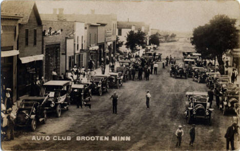 Automobile club rally at Brooten Minnesota, 1915