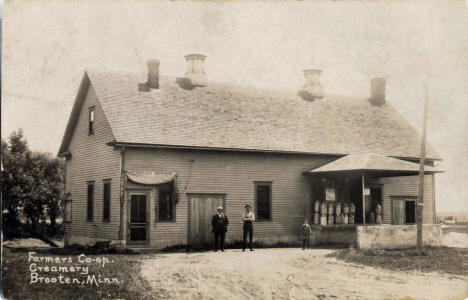 Farmers Co-op Creamery, Brooten Minnesota, 1917