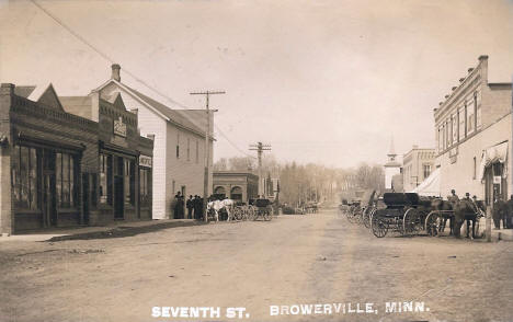 7th Street, Browerville Minnesota, 1900's