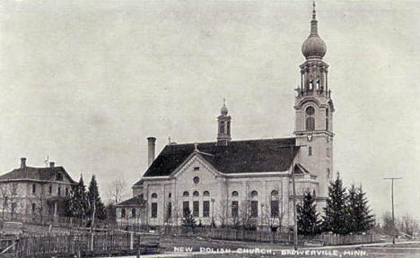 New Polish Church, Browerville Minnesota, 1909