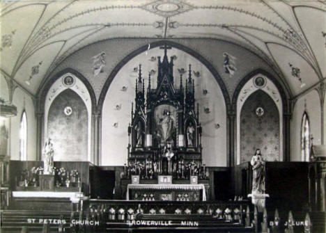 Interior, St. Peter's Church, Browerville Minnesota, 1911